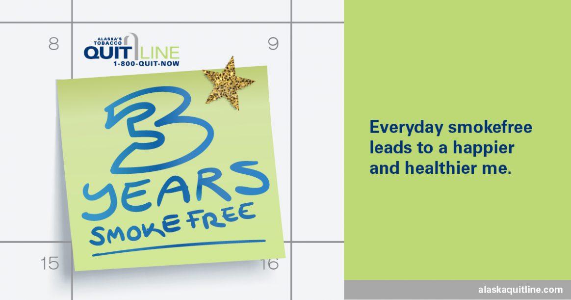 3 Years Smoke Free