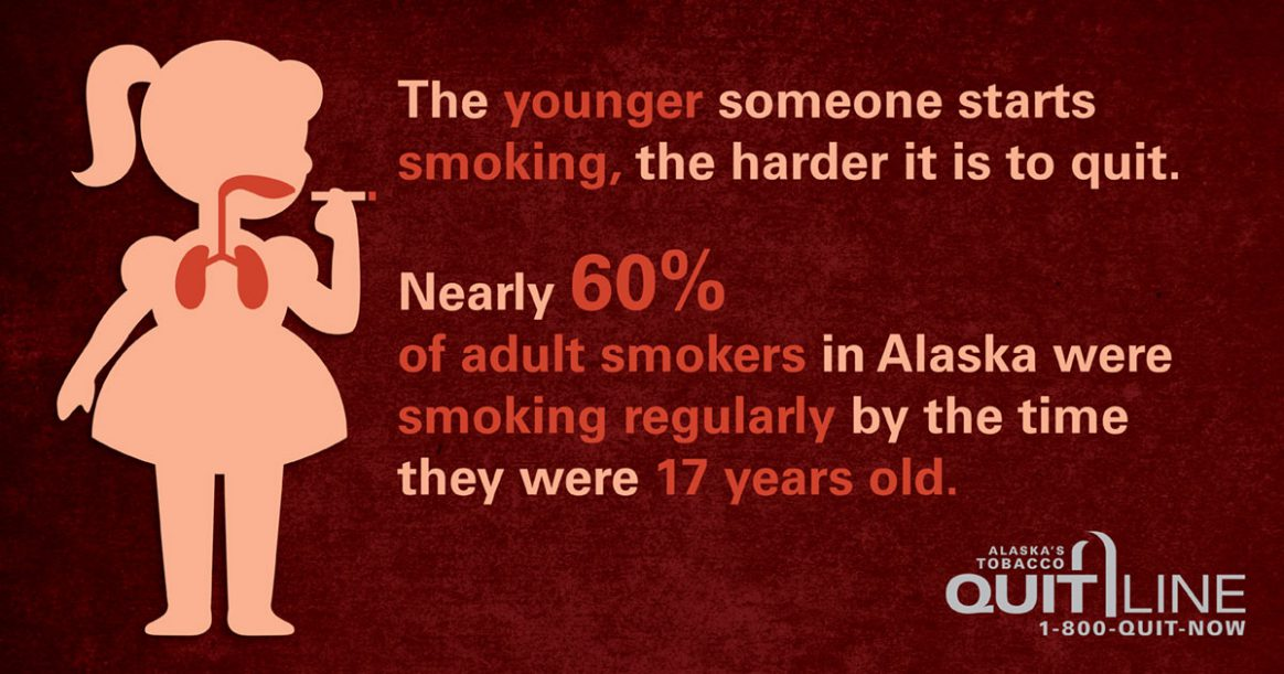 The younger someone starts smoking, the harder it is to quit.